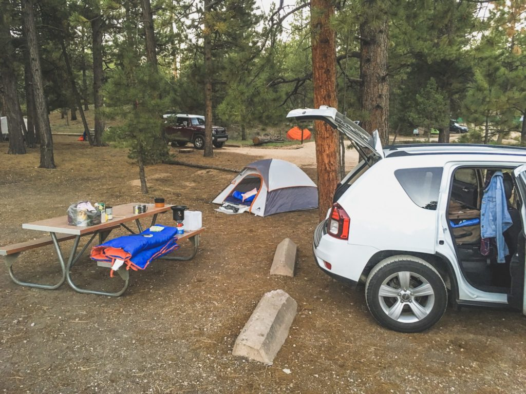 parki narodowe USA - pole namiotowe