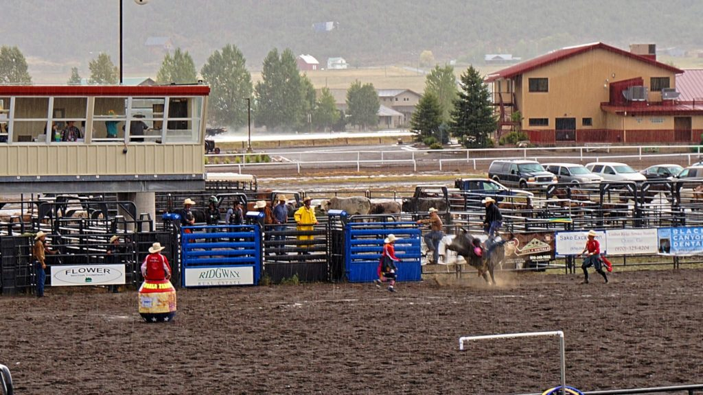 Rodeo w Ouray, Colorado